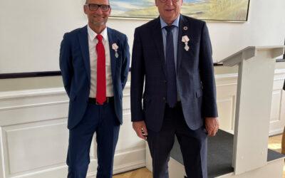 Gert Rasmussen og Kim Johansen har modtaget Dannebrogsordenen