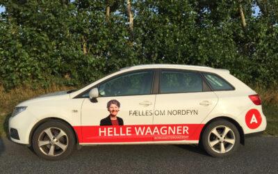 Så er min bil også klar til valgkampen